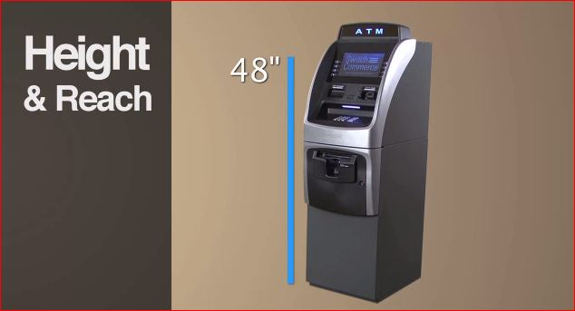 ATM Machine height is now 48 inches