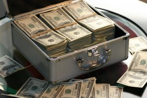 Suitcase - cash still king